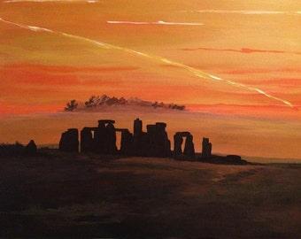 Dusk at Stonehenge