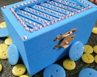 Mini Rhinestone Top Treasure Box
