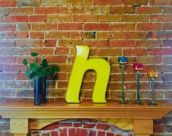 Vintage Sign Lowercase Letter h