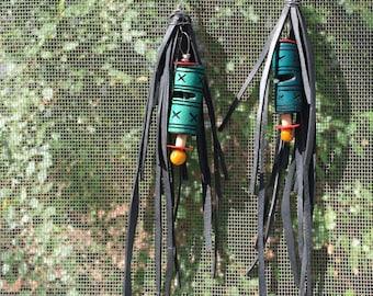Bike Tube Fringe Earrings