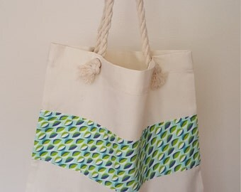Pretty calico shopper bag