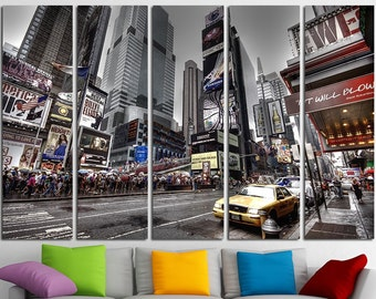 Times Square Large Canvas Print Wall Art Times Square Wall Art Set New York Canvas Art New York City Poster New York Photo New York Print