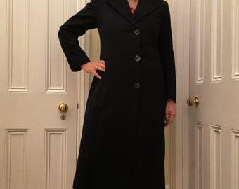 True vintage tailored navy gaberdine Coat by R J Chubb