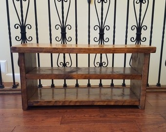 Entryway Shoe Rack and Bench