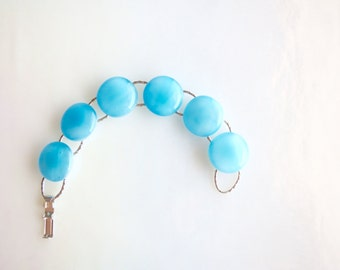 Turquoise Fused Glass Bracelet