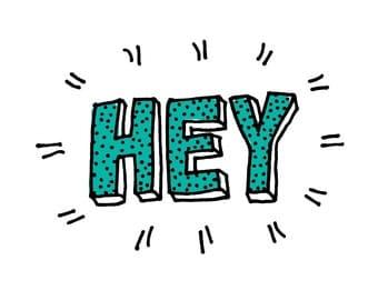 Greeting Card - Hey