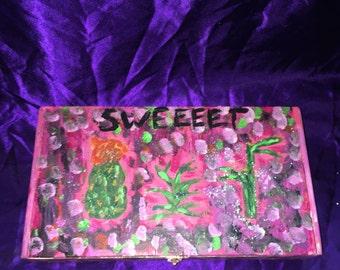 Painted box- cacti