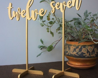15 Wedding Table numbers. Gold Table numbers.
