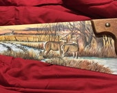 Custom Hand-Painted Antique Hand Saws