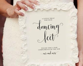 Dancing Shoes Sign, Dancing Feet Sign, Wedding Dancing Shoes Sign, Wedding Printable, Wedding Template, Pair of Shoes, Dancing, MAM208_06