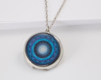 Blue Mandala Locket