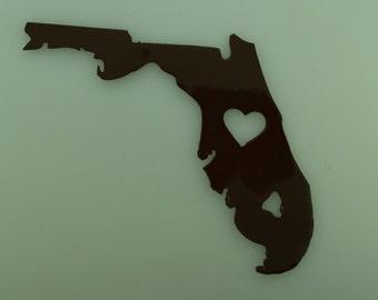 Metal Art I Love Florida magnet
