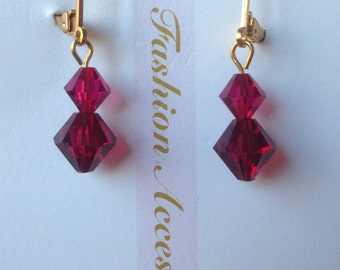 swarovski crystal drop earrings, swarovski crystal  dangle earrings
