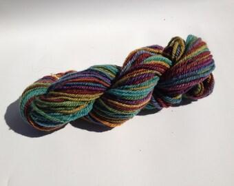 handspun Blue Faced Leicester 3 ply yarn