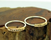 Name Plate Ring, two tone customized ring with your personalized word