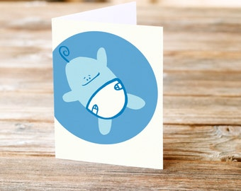 Baby Boy blue Pregant pregnancy new baby baby born Congratulations Greeting Card