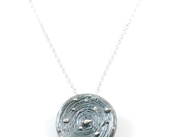 Galaxy Pendant in Sterling Silver - Made to Order