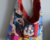 Wonder Woman & Batgirl Hobo Bag