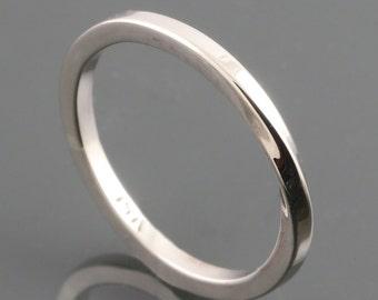 White Gold Möbius Ring. 14K White Gold. Eternity. Infinity. Band. Skinny Stacking Ring. Made to Order.