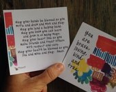 prayer cards - blessing cards - awesome for backpack blessing - pack of 30
