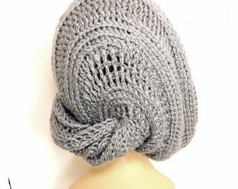 Crochet Slouchy Hat Pattern, Womens Crochet Beanie Pattern, Crochet Pattern Hat, Crochet Hat Pattern, LUNCH LADY Slouchy Hat