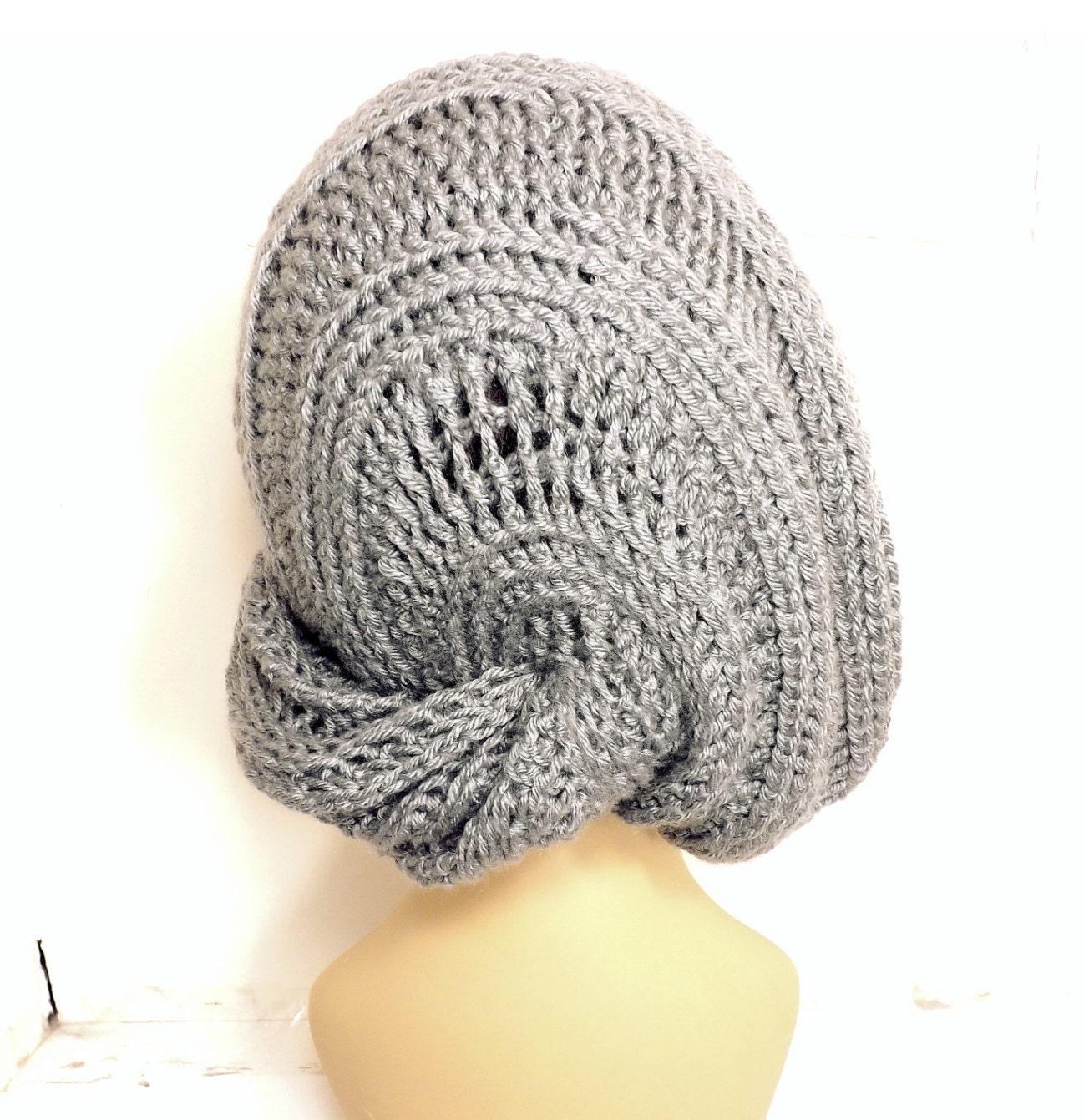 Crochet Slouchy Hat Pattern Womens Crochet Beanie Pattern
