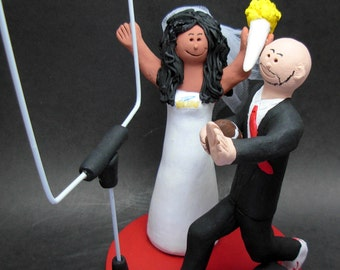Interracial Wedding Cake Toppers