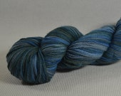 NEW Hand Dyed DK Weight Yarn Polworth and Silk - Tango by Yarn Hollow - Ocean Race Multi Color 4 ounces 330 yards