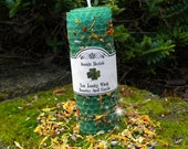 You Lucky Witch Beeswax Spell Candle - Good Luck, Abundance, Blessings, Fortuna, Gambling, Pagan, Wicca