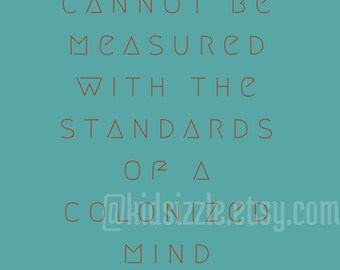 colonized mind womanist typography feminist pro black wall art for home and studio