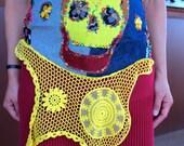 Calavera/Skull Pocket Obi for Dia De Los Muertos/Day of The Dead