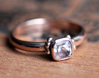 Rose gold morganite engagement ring, rose gold ring, 14k rose gold promise ring, morganite promise ring, cushion cut ring Temple custom made