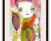 "ORIGINAL Illustration , Watercolor- Children's Illustration Art  by Christina Romeo......""Sugar Pecan"""