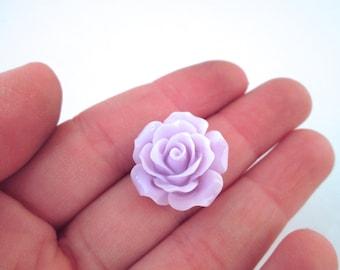10 Lavender Rose Cabochons 20mm
