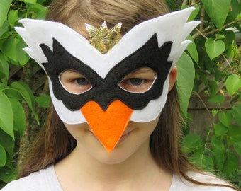 Felt Swan Mask - Bird Mask - Masquerade - Swan Costume - Mardi Gras - Halloween