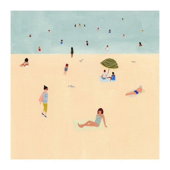 Beach print 8x8