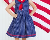 Sailor Dress Pattern - PDF sewing pattern for Girls 2 3 4 5 6 7 8 9 10