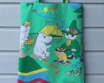 Tote shopping bag shoulderbag with Moomins