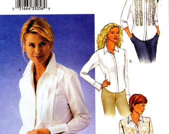 Butterick 3525 Semi-Fitted Shirt Trio GREAT DETAILS Sizes 12 - 14 - 16