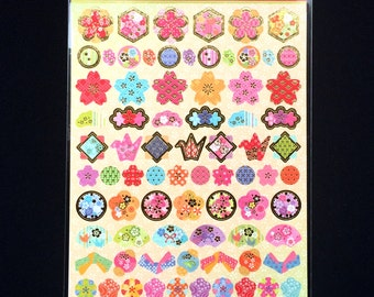 Blossom Stickers - Japanese Washi Stickers - Traditional Japanese Stickers -  Japanese  Stickers - New Year Stickers S168