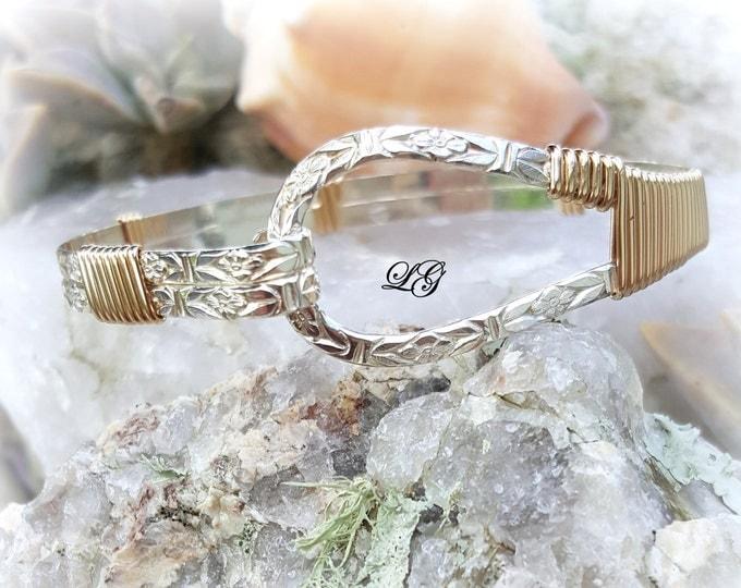 Nautical Bracelet, Darlin Bracelet, Silver Pattern Bracelet, Gold Bracelet