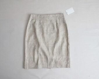 woven silk skirt | woven skirt | high waist skirt