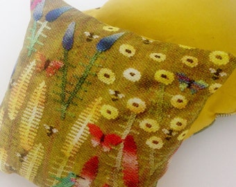 Prairie Goldenrod floral sachet filled with Lavender