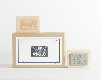 Snail Mail Rubber Stamp
