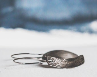 Hand Hammered Earrings {Sterling Silver}