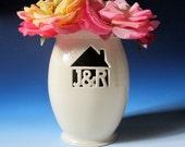 Housewarming or Wedding Gift - House Monogram Personalized Initials & Ampersand