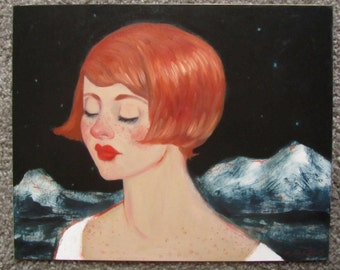 "Original Oil Painting ""Starred"" by Amy Abshier Reyes"