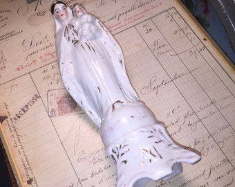 Vintage Porcelain Mary with Baby Figurine