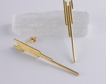 Art Deco Earrings. Wife Boho Gift. Wedding Earrings. Minimalist Jewelry for Women. Unique Jewellery. Gifts for Wife. UK Sellers Only.