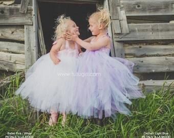 Light Pink White Tutu Dress, Flower Girl Dress